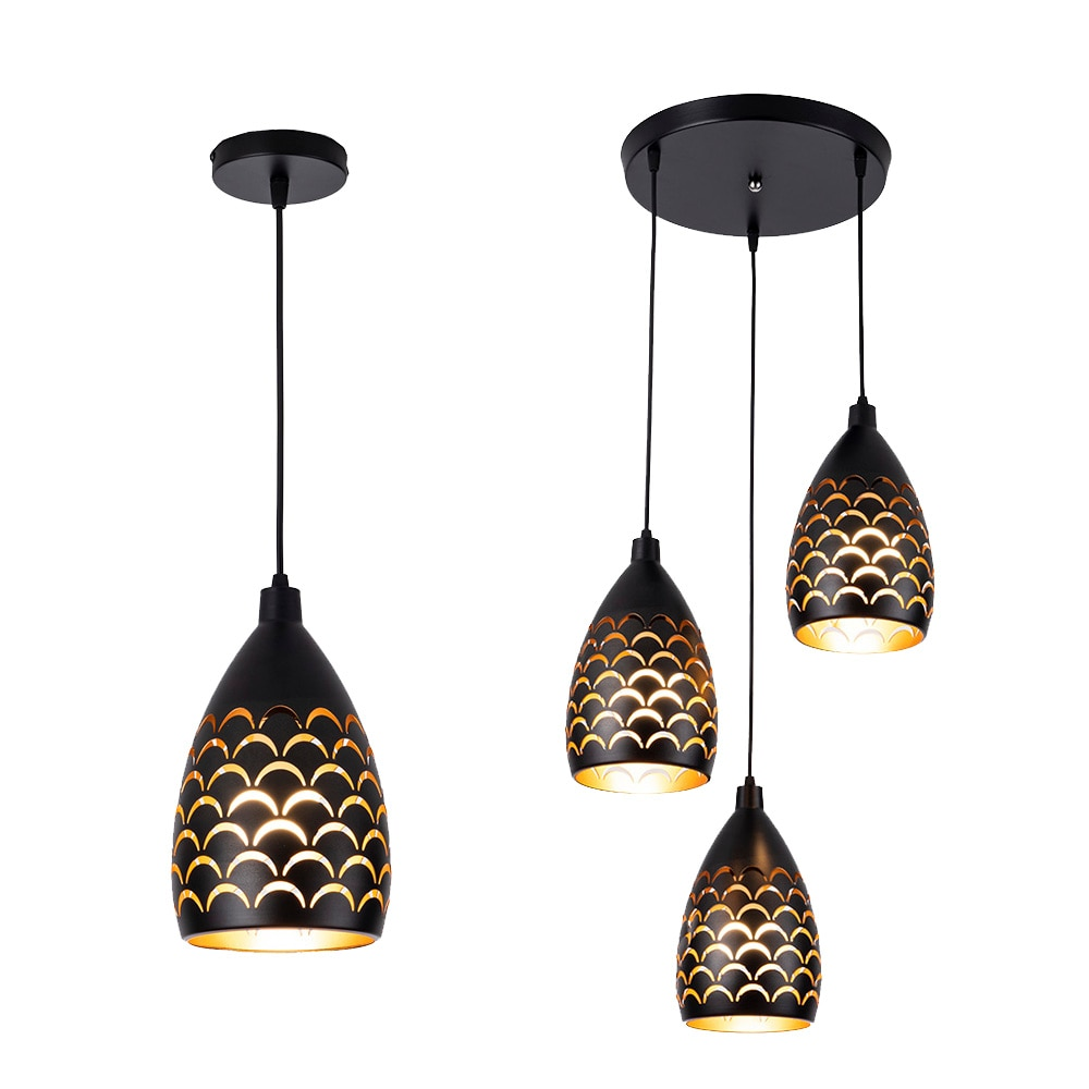 north american country pendant lights loft retro dining room bedroom ceiling lamp simple creative iron 3 6 heads pendant lamps 1/3 Heads Cord Pendant Ceiling Lamps Loft for Kitchen Led Pendant Lights dining room Hanging Light Fixture Led Pendant Lighting