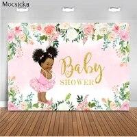 mocsicka children shower background pink flowers photo background decoration children portrait photo photography banner