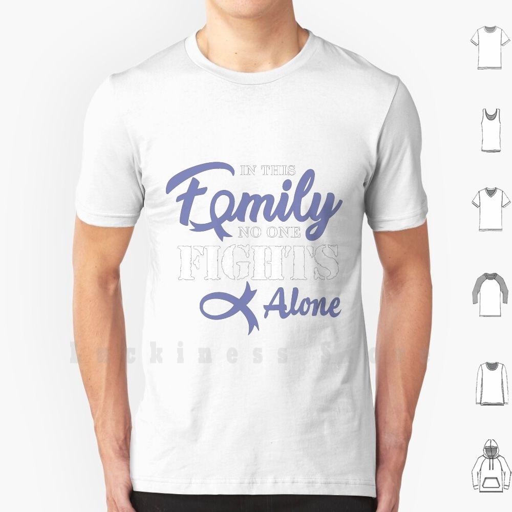 Stomach Cancer Cancer Ribbon T Shirt DIY Cotton Big Size 6xl Fk Cancer Cancer Survivor Chemo Cancer Bowel Polyps Support