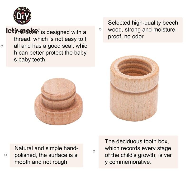 Let's Make 1 шт. деревянная детская коробка для зубов для мальчиков и девочек, сувениры для малышей, подарочные сувениры, органайзер для хранения ...