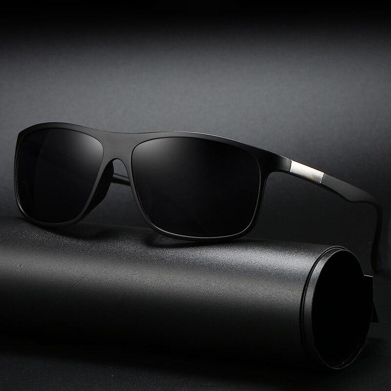 FONDYI, gafas de sol decentes para hombre, elegante, UV400, gafas de sol de seguridad para conducir, gafas de sol deportivas, lentes de sol con caja