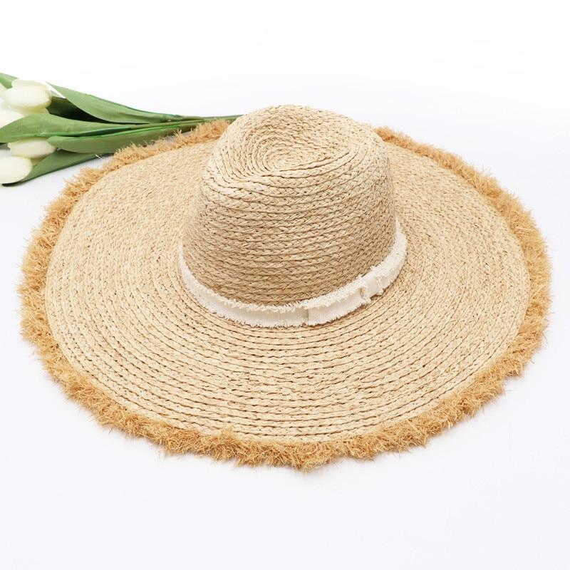 01912-hh7070 الصلبة اليدوية التشفير الرافية العشب نتوءات fedoras قبعة الرجال النساء بنما الجاز قبعة