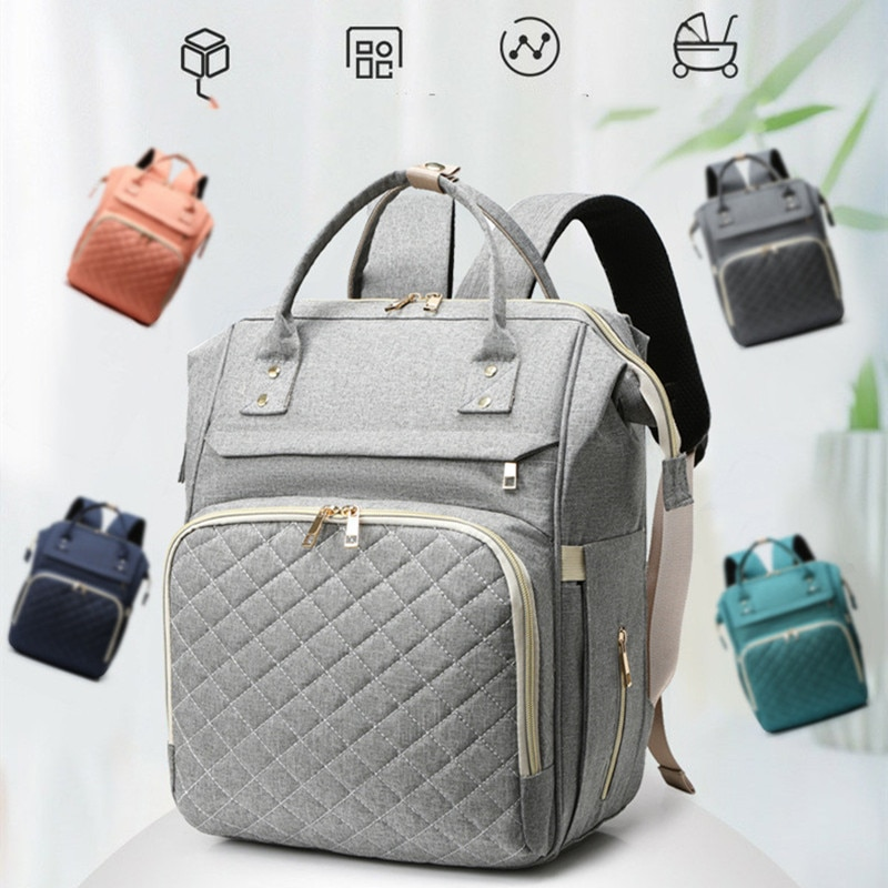 Diaper Mummy Bag New Styles Nappy Bag Large Capacity Baby Bag Backpack Maternity With USB InterfaceNursing Bag for Baby Care