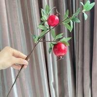 NOUVELLE Grenade rouge branche de fruits decorations De Noel fleurs artificielles cotillons DECORATION BRICOLAGE Fournitures