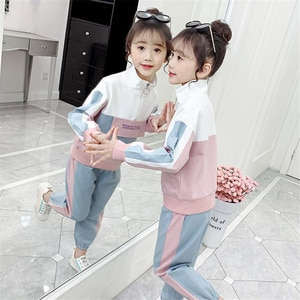 Spring Girls Clothes Set Teenage Kids Clothing Children Sports Suit Long Sleeve Girls Sets Casual Tracksuit 6 8 10 12 Years