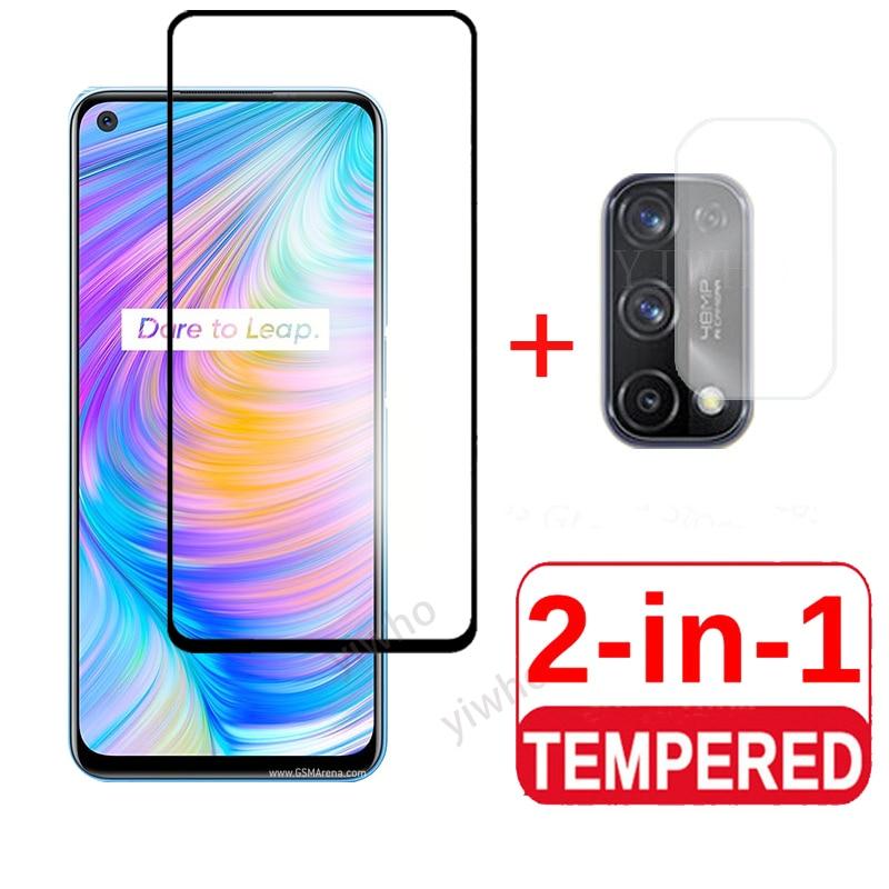 Tempered camera lens glass Film 2 iin1 realmeq2 for oppo realme Q2 screen protectors glass  for real