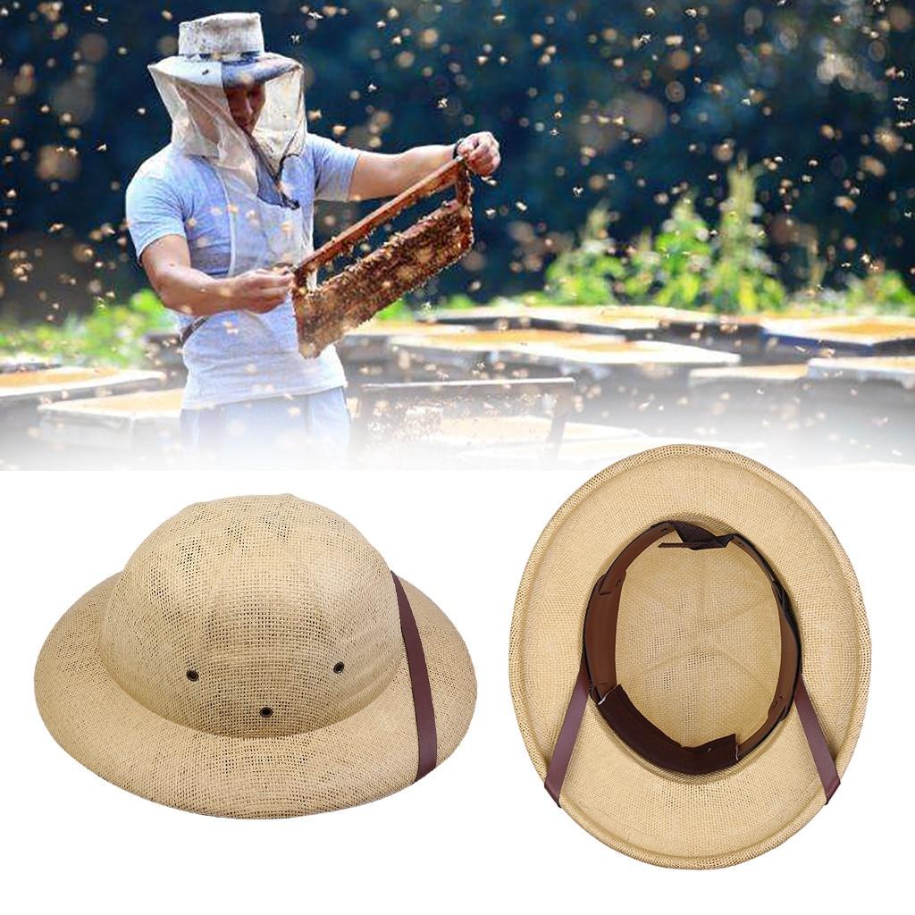 Herramienta de equipo de apicultura Anti-abeja transpirable hecha de bambú sin gasa máscara de tapa de pesca al aire libre sombrilla cabeza de cuello cubierta