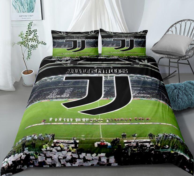 Juego de cama para fanáticos del deporte del siglo de fútbol, decoración para dormitorio, cremallera hipoalergénica, 1 funda de edredón con fundas de almohada