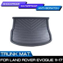 Car Floor Mat Carpet For Land Rover Evoque 2011 2012 2013 2014 2015-2017 Rear Trunk Anti-mud Cover