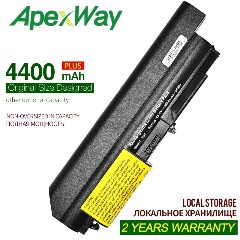 ApexWay 4400mAh11.1v батарея для Lenovo ThinkPad R400 7443 R61 7733 T400 7417 T61 6481 R400 42T4652 ASM 42T5265 FRU 42T4548