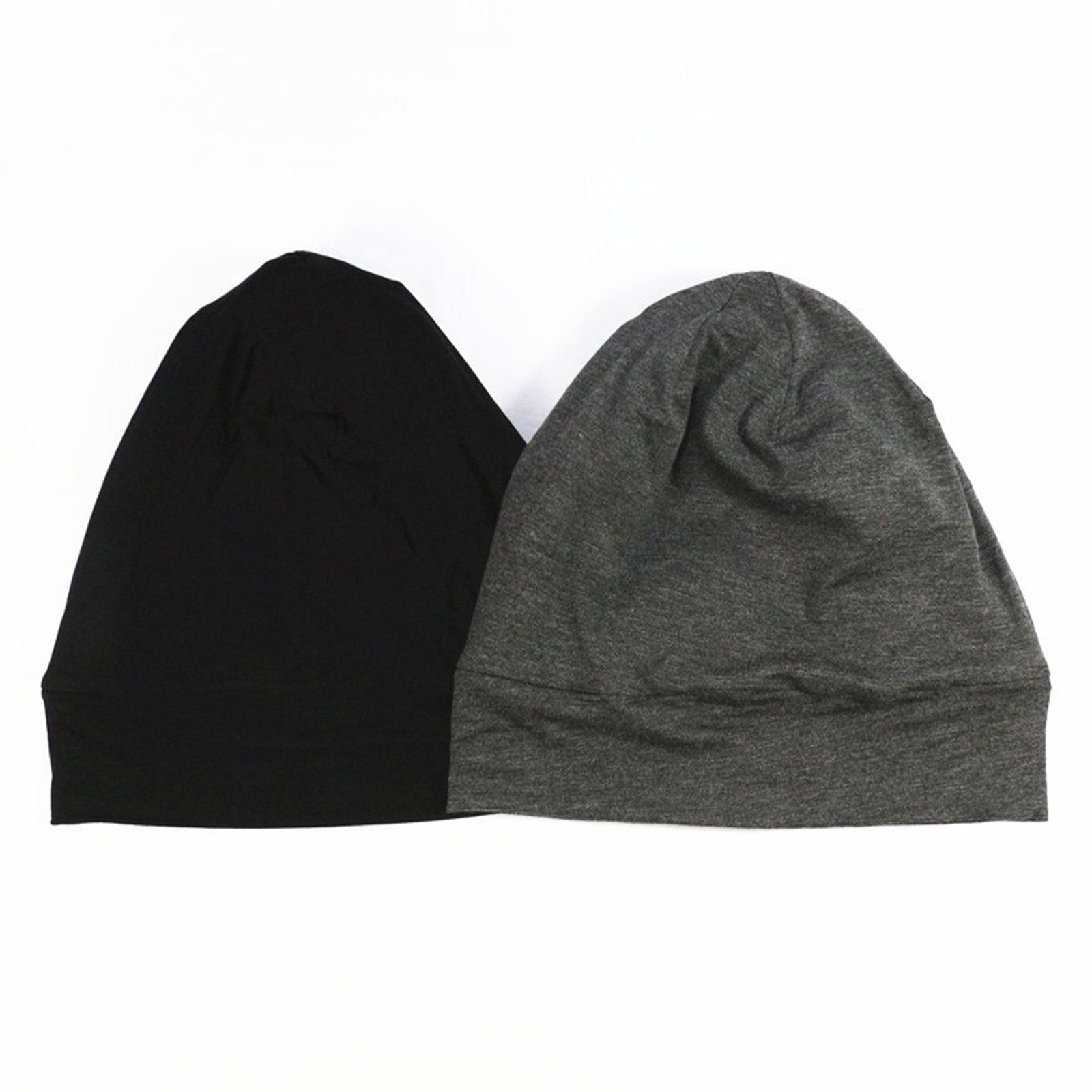 Modal algodão cabeça boné de sono respirável estiramento sono sedoso headcap dupla camada capa de cabelo para suprimentos femininos