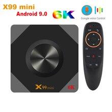 SZILBZ x99 mini caja de TV inteligente Android 9,0 Allwinner H6 Quad Core Soporte 6K 2,4G y 5G WIFI Set Top Box Media player X99mini