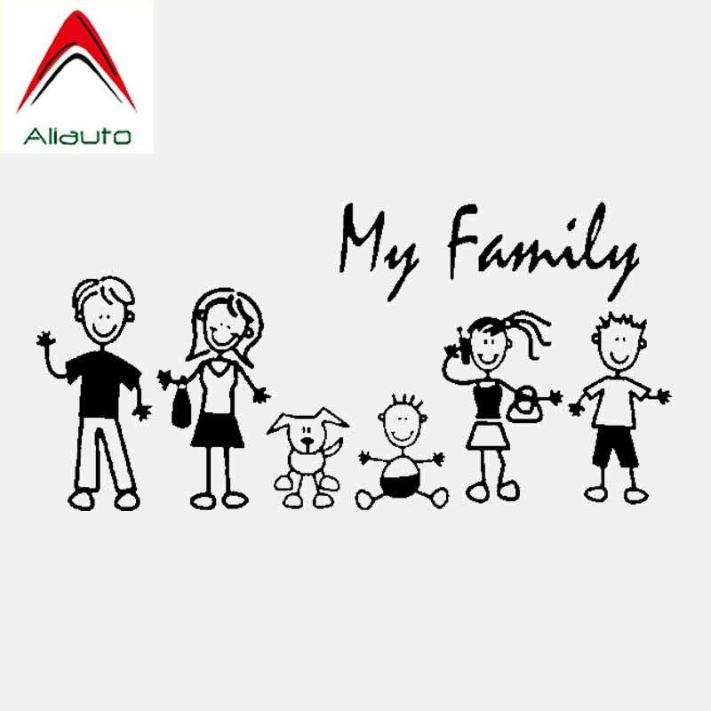 Aliauto Fashion Car Sticker My Family My Mom Kid Baby Cat Dog Pet Automobiles & Motorcycles Decoration Vinyl Decal,20cm*10cm