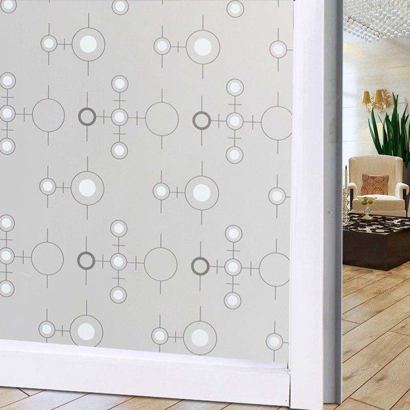Películas decorativas para ventanas de 45x100cm, Película autoadhesiva, película impermeable para ventanas, película de privacidad para dormitorio, baño, decoración del hogar