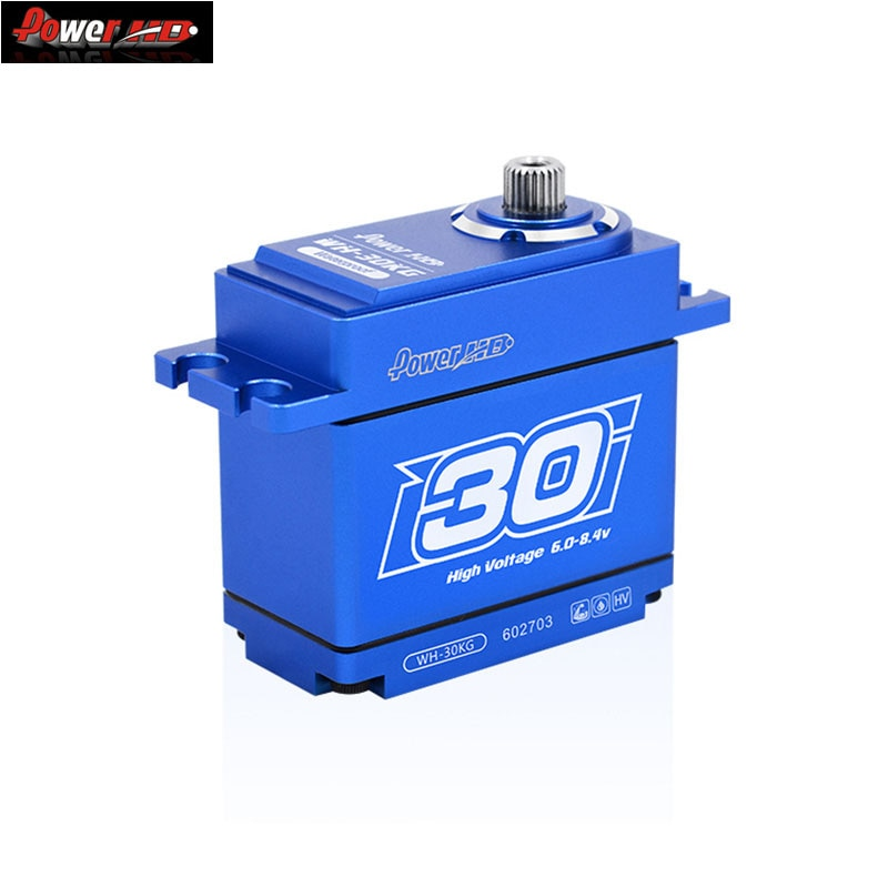 Power HD WH20 30 40 6.0-8.4V Large Torque Full Aluminum Case Waterproof Digital Servo Compatible With TRX4/KM5 For RC Car Parts enlarge