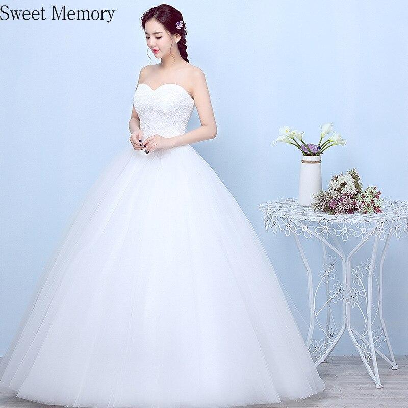 Sweet Memory-فستان زفاف نسائي ، أبيض ، بسيط ، مقاس كبير ، دانتيل ، طول الأرض ، مجموعة 2021