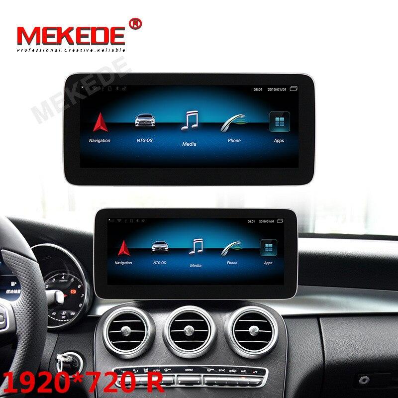 1920X720 4G LTE ocho core 4GB + 64GB android 9 radio de coche reproductor multimedia para Mercedes GLC W253 2015-2019 con gps de navegación