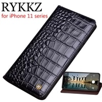 genuine leather flip case for apple iphone 11 pro max cover stand magnetic case for iphone x xs cases leather cover phone cases