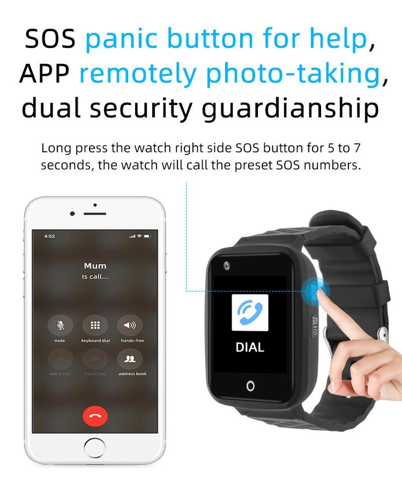 V46 Full Netcom With HD Video 2G 3G 4G GPS WIFI LBS Triple Positioning Tracker Remove Alarm Talking Clock Button IP67 Waterproof enlarge