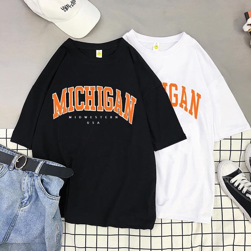 Летняя женская футболка с круглым вырезом и модную женскую одежду 90s для девочек Американский принт с буквами сексуальные Свободные повсед...