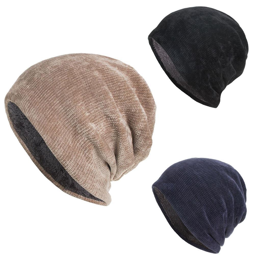 Nuevo gorro de terciopelo para mujer, gorro de invierno cálido de poliéster, gorros para mujer, gorro de terciopelo sólido, envío directo