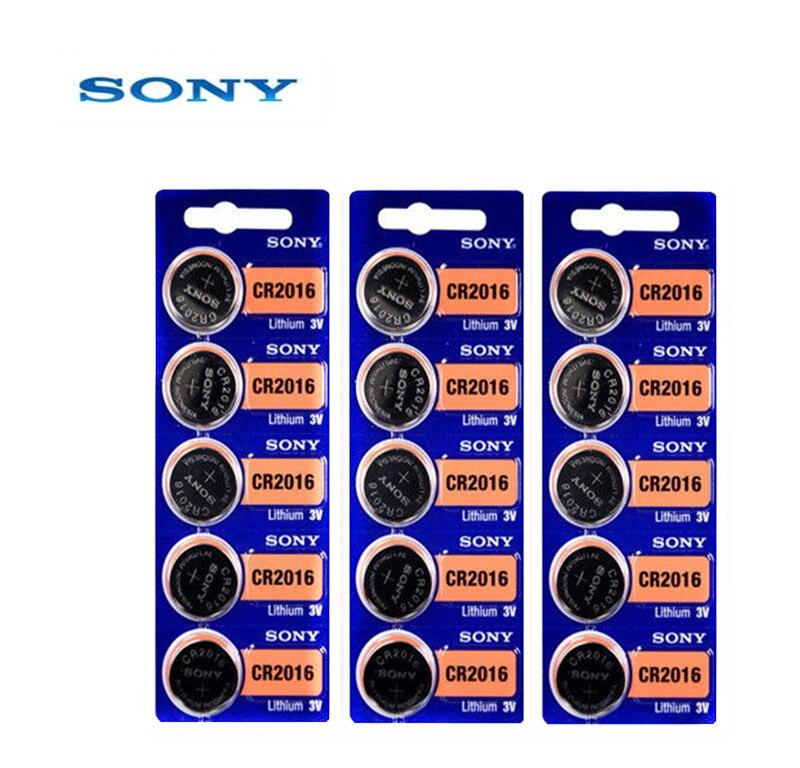 15 шт. sony CR2016 3V 100% оригинальная литиевая батарея для автомобильных ключей, часы с пультом дистанционного управления, игрушка 2016 ECR2016 GPCR2016, кнопочный аккумулятор