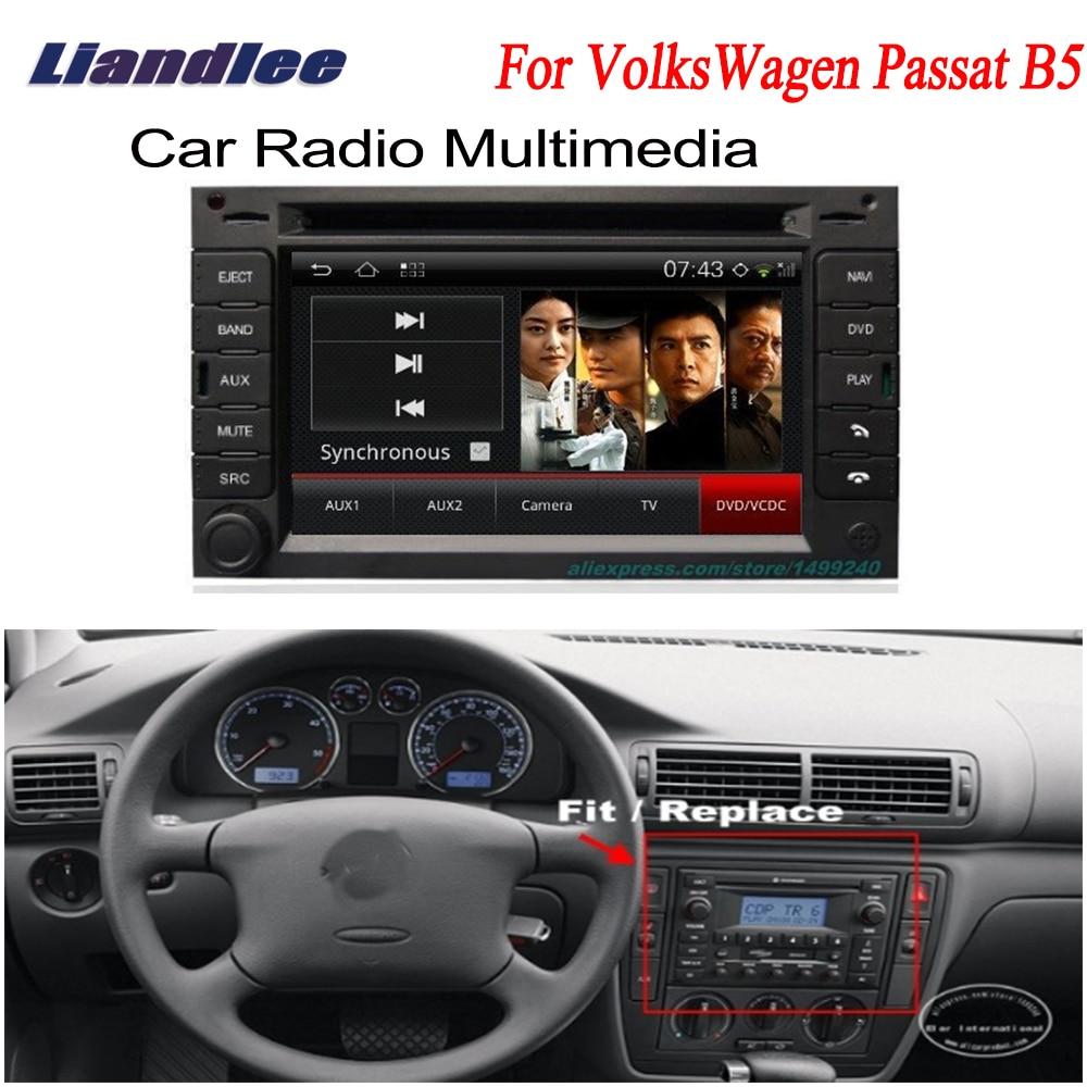 Liandlee para VolksWagen VW Passat B5 2000 ~ 2005 2 din, Radio GPS Android Navi, mapas, CD, reproductor de DVD, Audio de TV de pantalla HD OBD2
