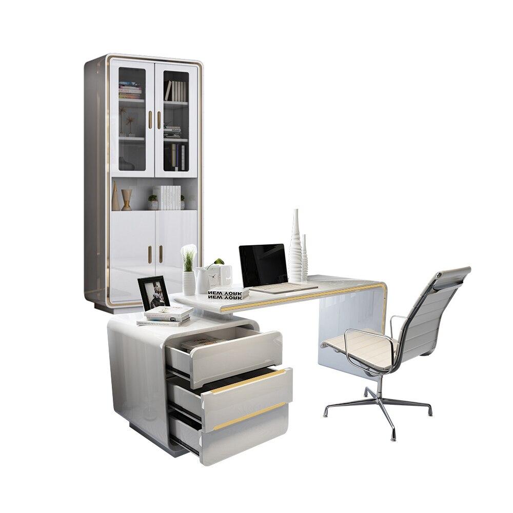 Mesa de escritório para escritório, escritorio de mesa para escritório, panana escrivaninha, armário livre de luxo, cor branca