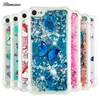soft tpu case for ipod touch 7 6 5 glitter liquid silicon cover for iphone x xs 10 5s se 2020 6s 7 8 plus xr 11 pro max fundas