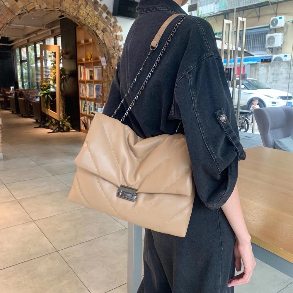 fashion chains hobos women shoulder bags designer handbags luxury soft pu leather crossbody bag large tote female purses 2020