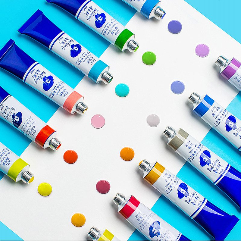 Paul Rubens 18ml grado A conjunto de tubos de pintura de acuarela pinturas de Color agua pigmento aquarel para dibujar suministros de arte