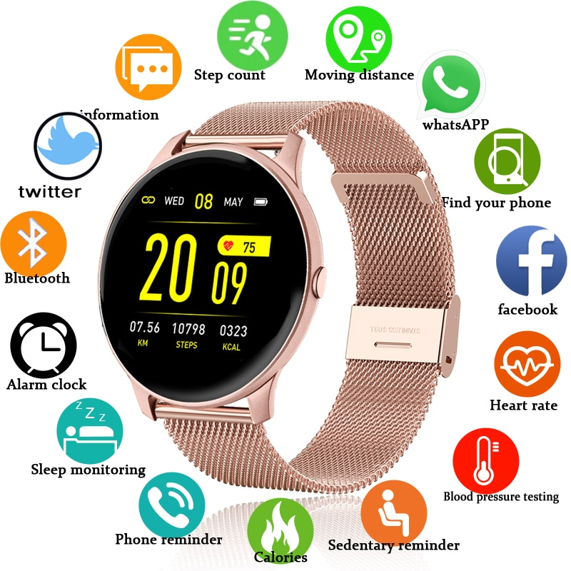 LIGE 2020 Fashion Smart Watch Ladies Heart Rate Blood Pressure Multifunctional Sport Watch Men Woman