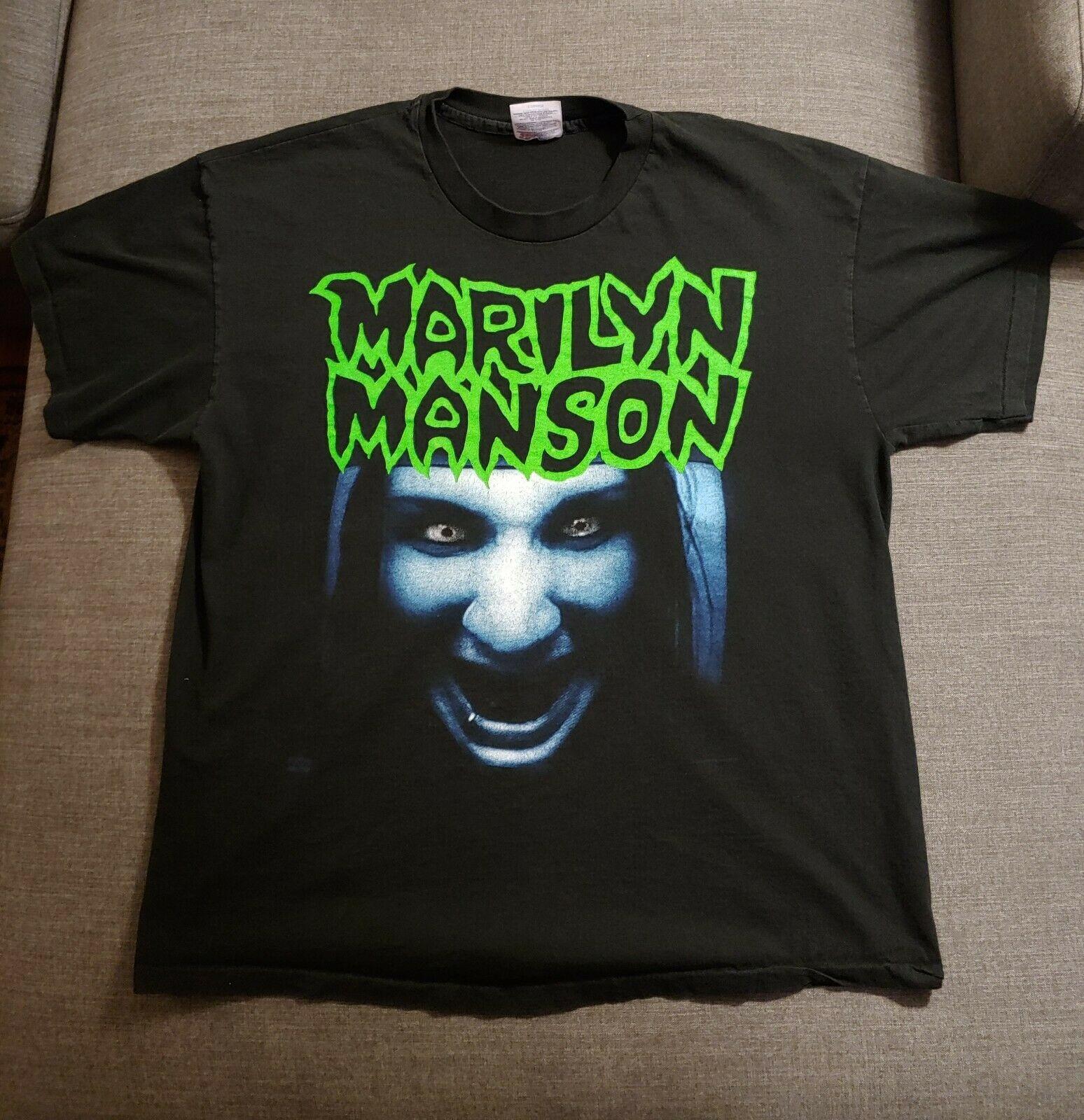 Marilyn Manson vintage Winterland este es su mundo tv cara camiseta XL raro