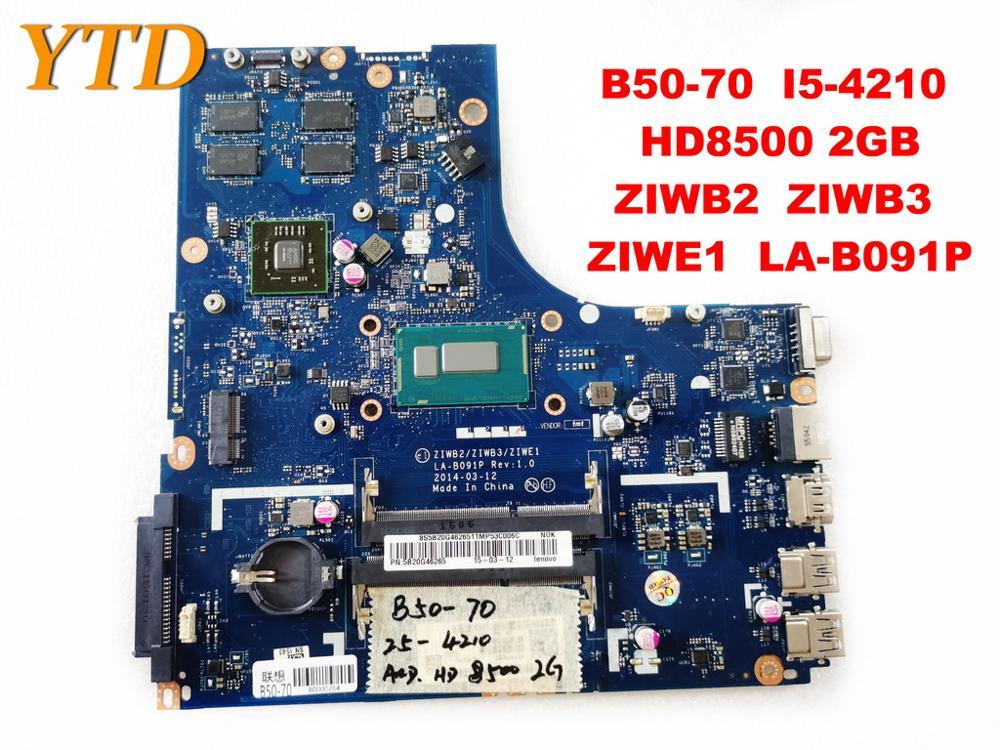 Original para Lenovo B50-70 placa base de ordenador portátil B50-70 I5-4210 HD8500 2GB ZIWB2 ZIWB3 ZIWE1 LA-B091P probado buen envío gratis