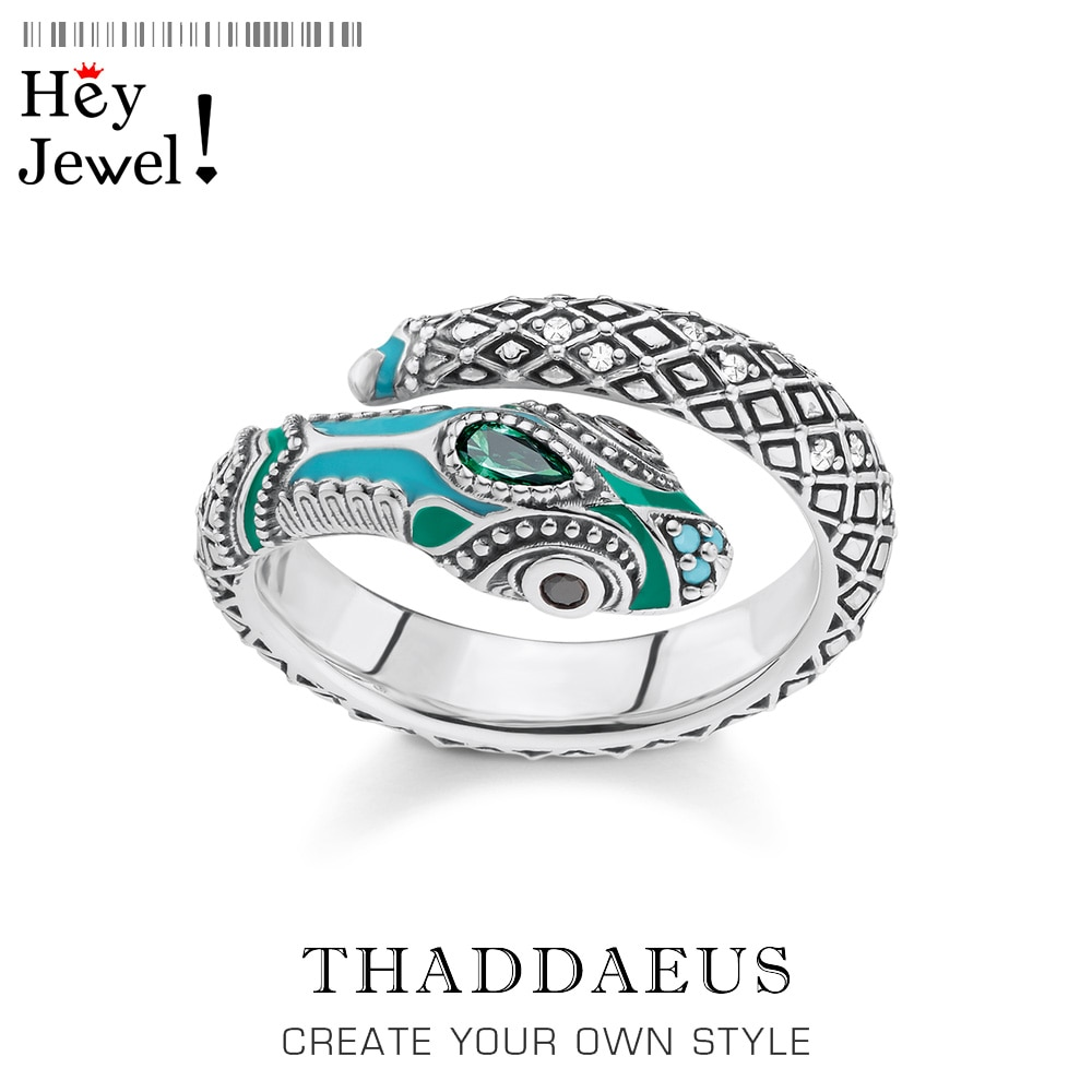 Кольцо в виде тропической мистической змеи, стиль Томаса, модное украшение в виде мифа джунглей для женщин, 2020 Ts, подарок в богемном стиле из 925 пробы серебра