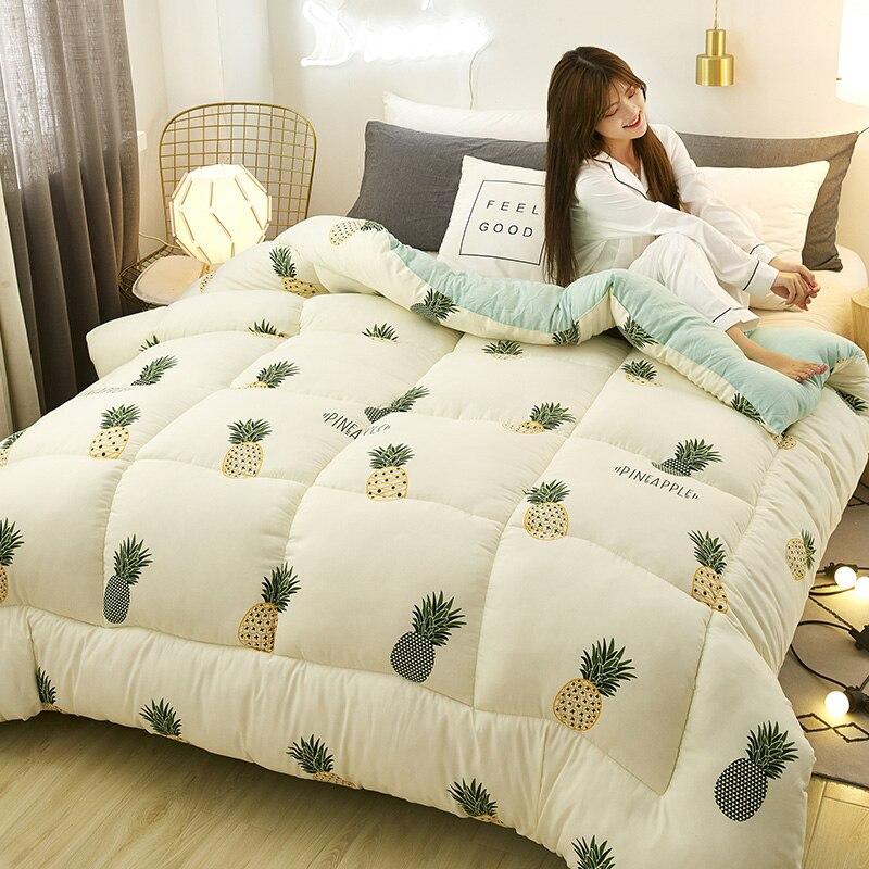 تصميم جديد الأساسية أسفل النسيج ستوكات ملء طقم سرير قابل للغسل 7 ألوان اختيار لحاف دافئ شتاء دافئ رشاقته المعزي