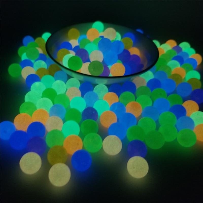 200 шт светящийся акриловый бисер 6-12 мм рыболовные бусины для изготовления украшений светится в темноте ожерелье браслет бусы