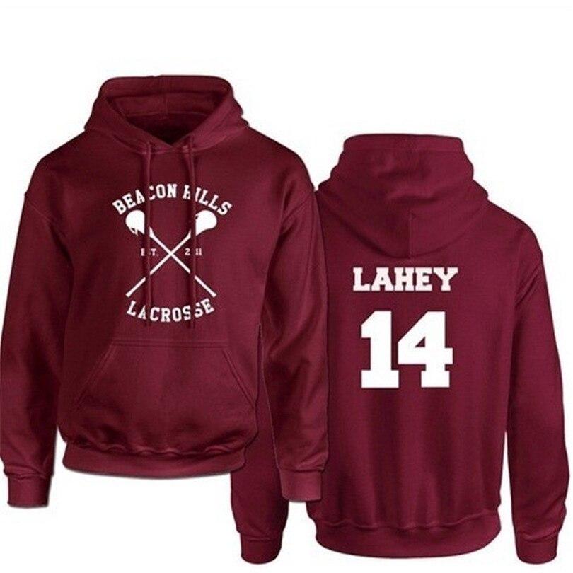 2020 NOVOS Homens Do Hoodie Lahey14 Teen Wolf Impressão Moletom Masculino Com Capuz Vermelho Mens Hoodies Hoddies Hip Hop Streetwear