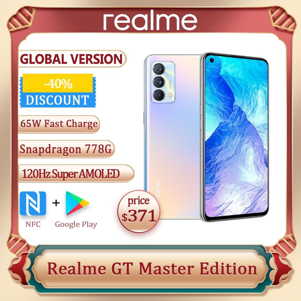 Смартфон Realme GT Master Edition, экран 778 дюйма, Восьмиядерный процессор Snapdragon 128G, 256 ГБ/6,43 ГБ