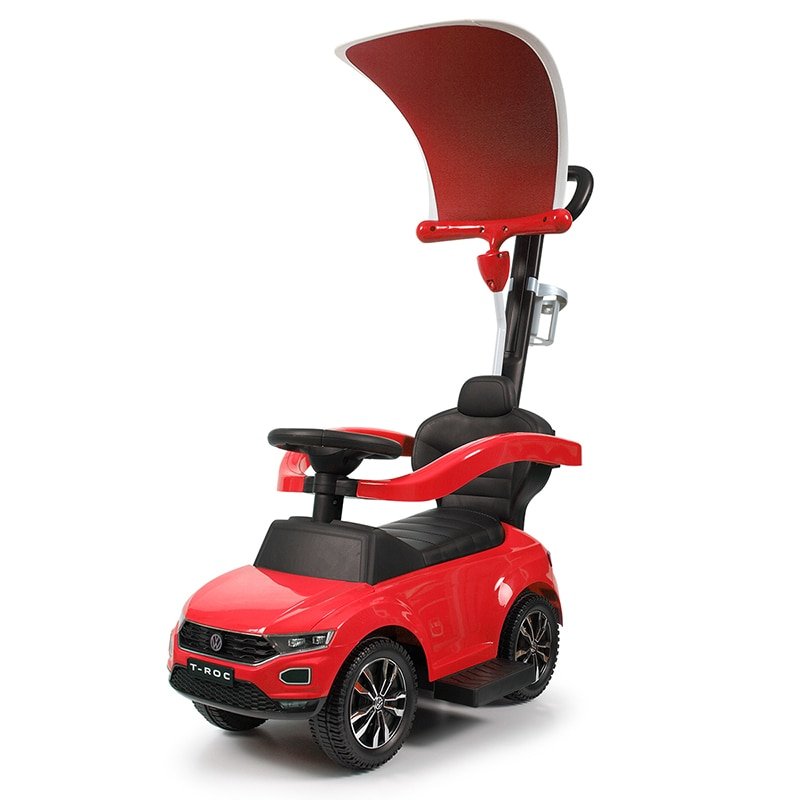 Niños montan en el coche de juguete multifunción toldo carro de empuje para bebé de cuatro ruedas andador con música de 1-5 años de edad T0805