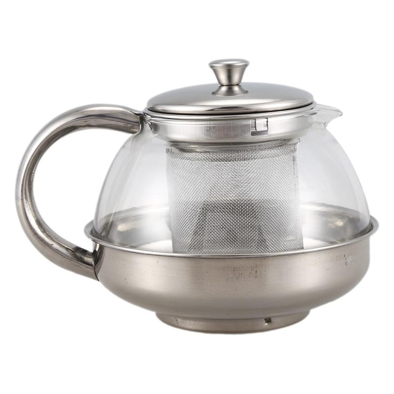 ABUI-TETERA de vidrio Inoxidable infusor suelto café té hoja Herbal Decoración