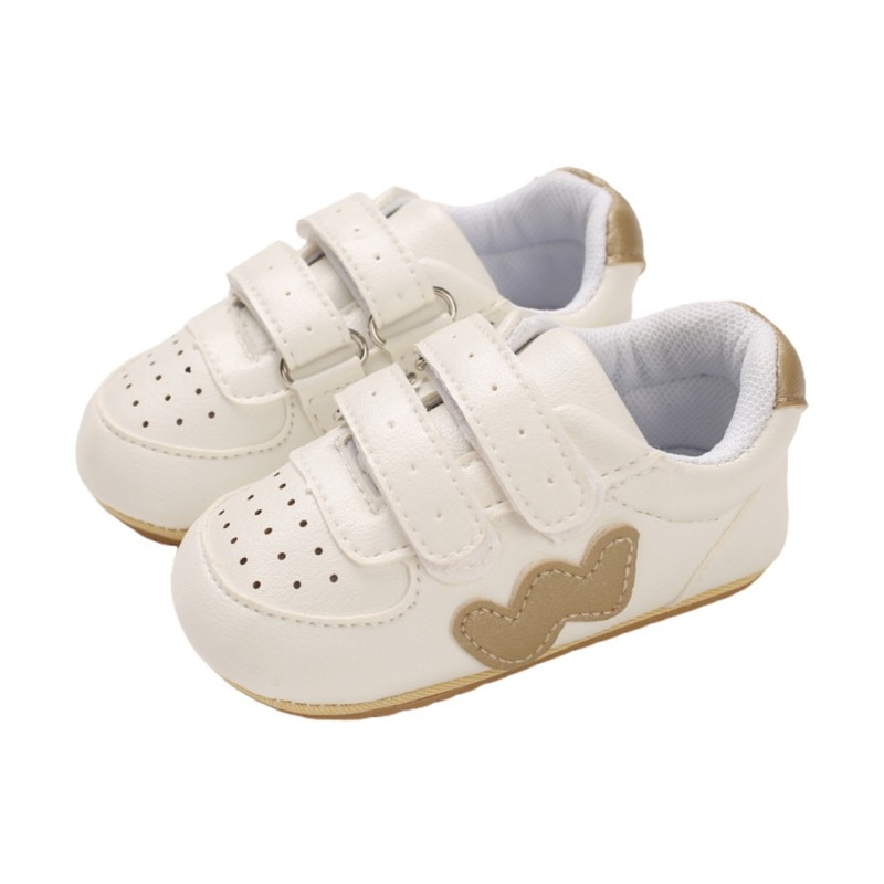 Spring Autumn Baby Shoes Newborn Boy Girl PU Non-slip Soft Sole Patchwork Sneakers First Walkers Shoes Unisex 0-18M