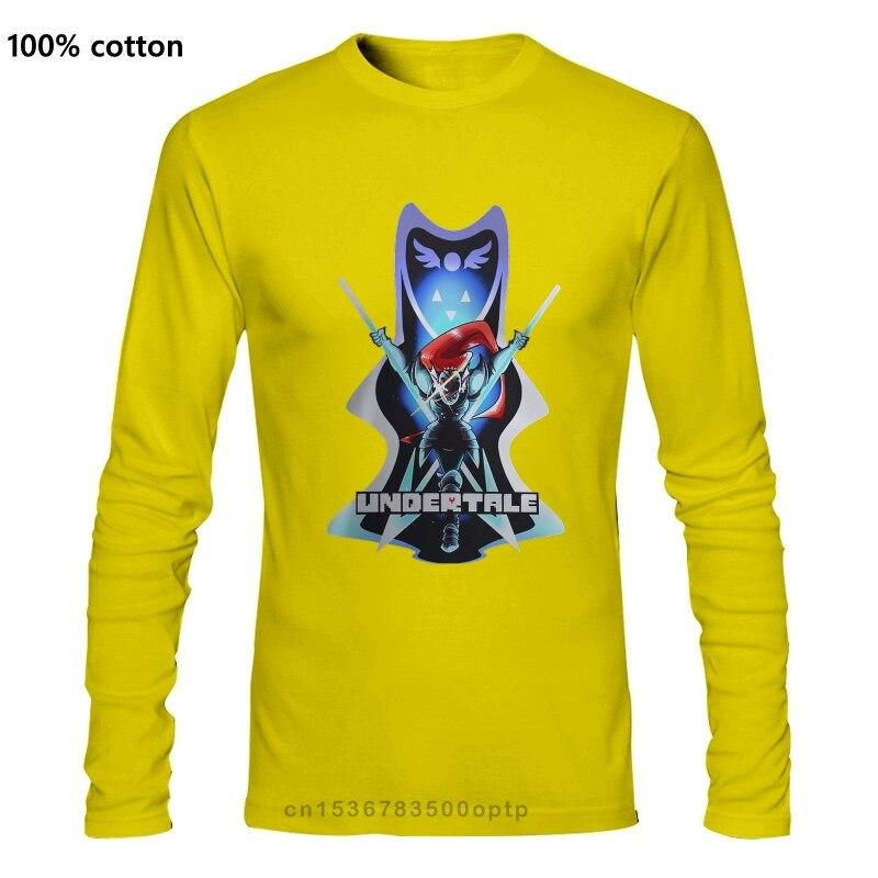 Novo popular undertale undyne monstros preto t camisa masculina s-3xl estampa camiseta masculina harajuku