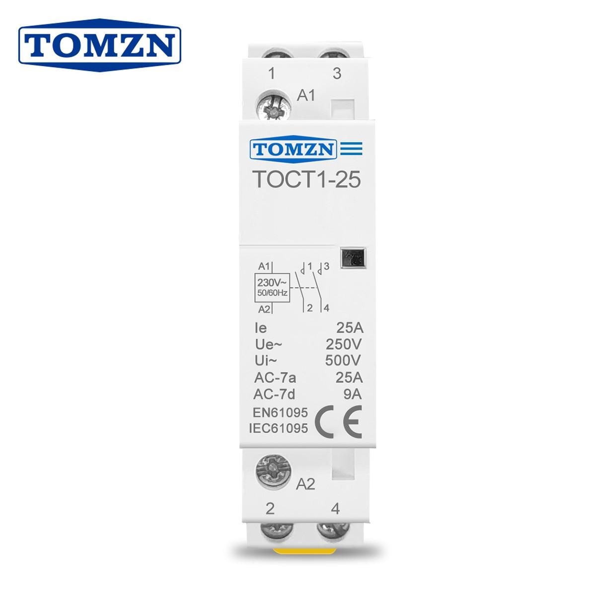 Contactor modular TOCT1 2P 25A 220V/230V 50/60HZ para el hogar, Contactor modular...