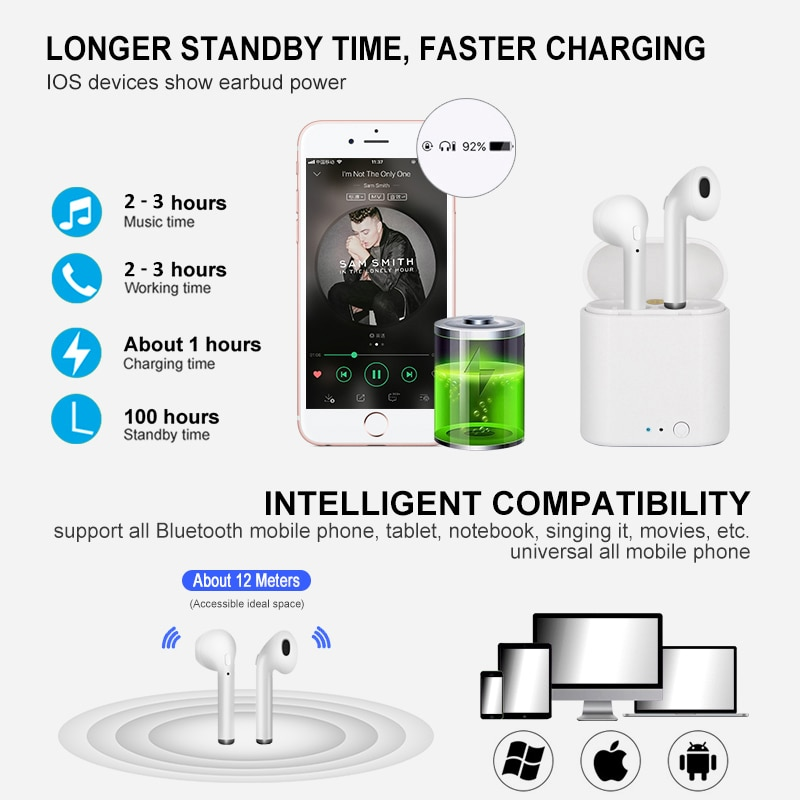 i7s TWS Wireless Headphones Bluetooth Earphone Air Earbuds Sport Handsfree Headset With Charging Box for Apple iPhone Android enlarge
