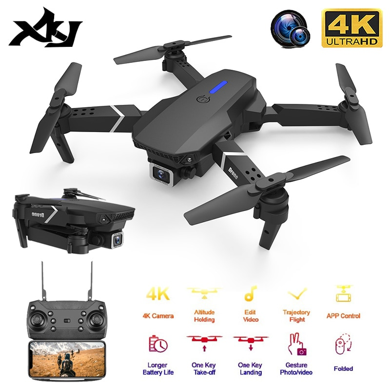 f6 drone 4k 1080p hd wifi quadcopter servo camera remote control adjustable angle drone camera dron reserve height rc helicopter XKJ 2020 New Quadcopter E525 WIFI FPV Drone With Wide Angle HD 4K 1080P Camera Height Hold RC Foldable Quadcopter Dron Gift Toy