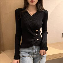Knitted Bottoming Shirt for Women Autumn and Winter 2020 New Style Sweater with Western Style Schemi