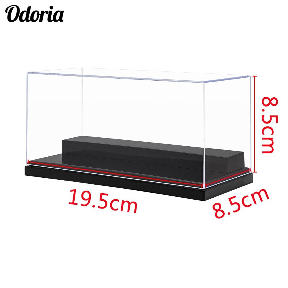 Акриловый дисплей Odoria (19,5x8,5x8,5 см), 2-ступенчатый Чехол/коробка, демонстрация Perspex, пылезащита для моделей автомобилей, экшн-фигурки, коллекционные игрушки