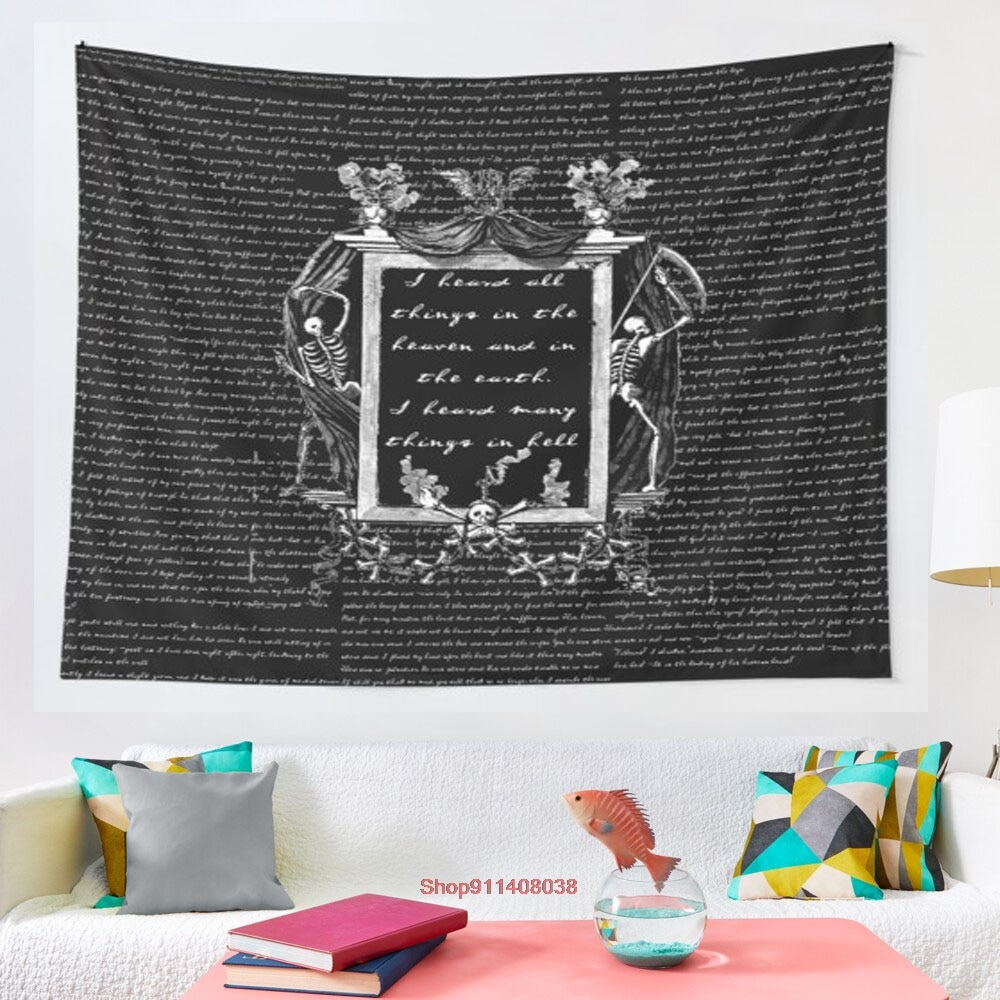 The Tell Tale Heart tapestry Hanging Tapestry Hippie Wall Hanging Blanket Wall Carpet Yoga Mat Home Decor