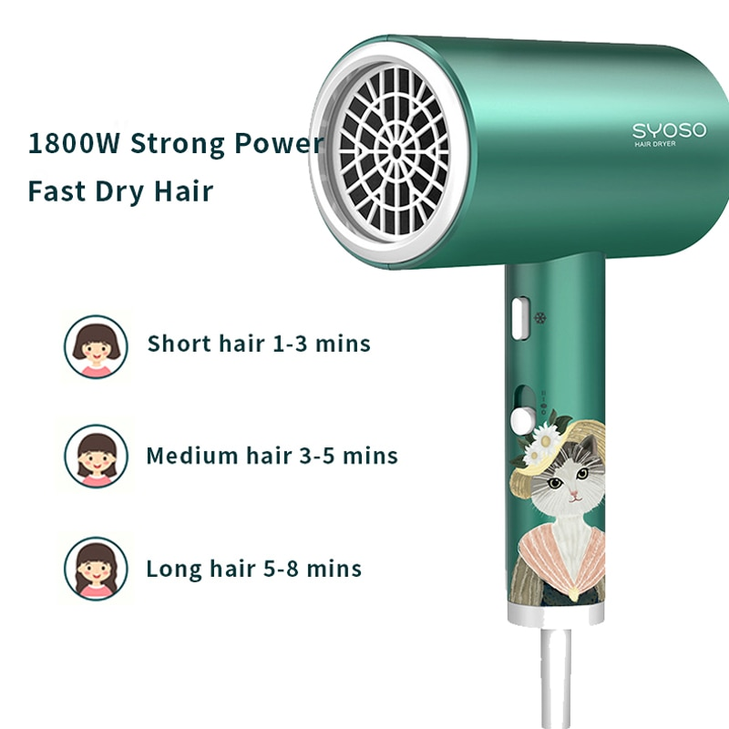 Negative Ion Hair Dryer High Speed Professional Blow Dryer Powerful Hair Dryer for Household  Strong Wind enlarge